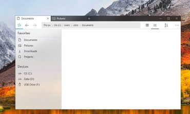 طرح جدید پیشنهادی برای صفحه فایل اکسپلورر ویندوز 10
