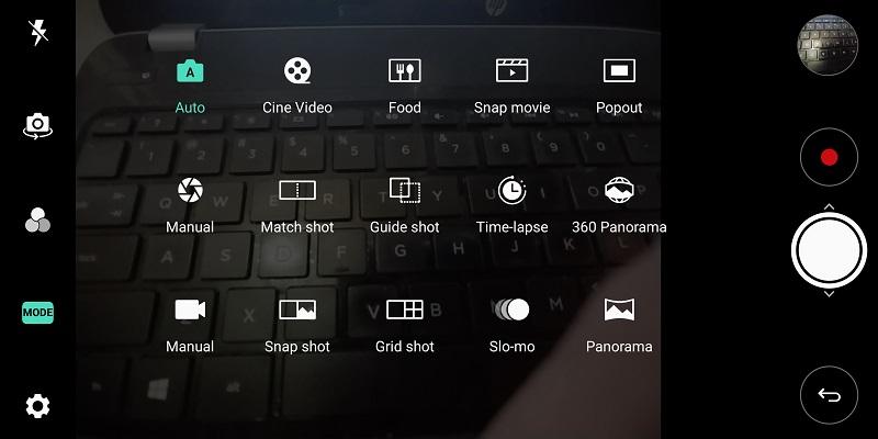 نگاهی به امکانات دوربین الجی V30 پلاس