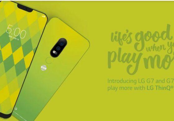 پوستر جدیدی از گوشی الجی G7 با رنگ سبز روشن منتشر شد