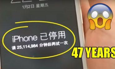 یک کودک چینی آیفون مادرش را به مدت 47 سال قفل کرد!