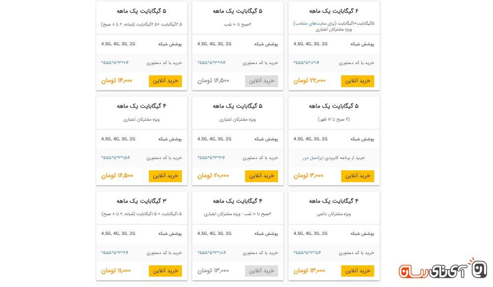 اینترنت پرسرعت 4G ایرانسل