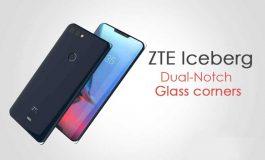 رندری از گوشی مفهومی ZTE با دو برش در بالا و پایین صفحه نمایش منتشر شد