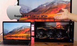 اپل پشتیبانی از کارتهای گرافیک اکسترنال را به آخرین بهروزرسانی سیستم عامل High Sierra اضافه کرد