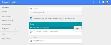 1-7-450x182 چگونه تاریخچه تمام فعالیتهای خود را در گوگل حذف کنیم؟