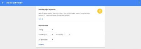 2-7-450x158 چگونه تاریخچه تمام فعالیتهای خود را در گوگل حذف کنیم؟
