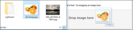 DraggingAndDropping-450x103 چگونه در گوگل جستجوی تصویری داشته باشیم؟!