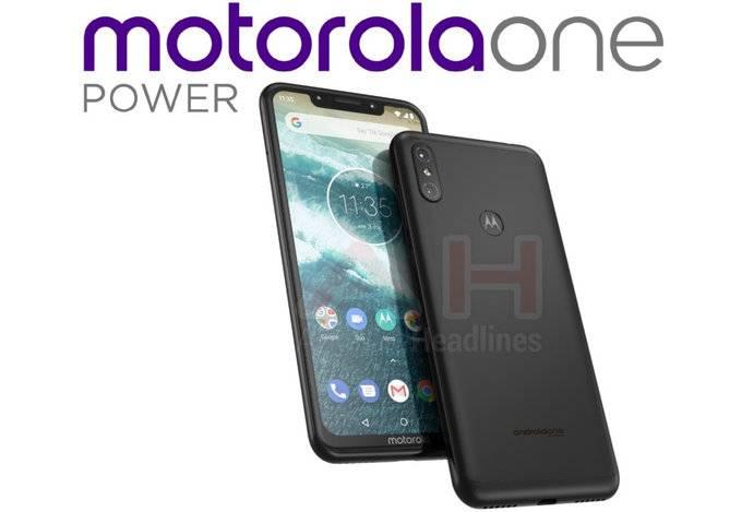 Motorola-One-Power-leak-00 تصویر اسمارتفون معرفینشده موتورولا وانپاور لو رفت؛ هندستی با نمایشگر برشخورده و دوربین دوگانه مشابه آیفون X