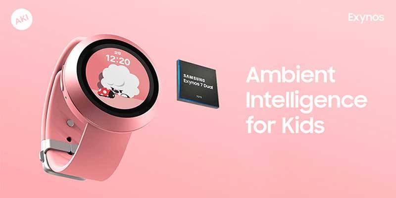AKI-smartwatch ساخت یک ساعت هوشمند مخصوص کودکان با پردازنده اگزینوس سامسونگ