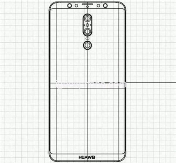 Huawei-Mate-20-Leaked-Sketch انتشار تصویری از نمای کلی و طراحی هواوی میت 20