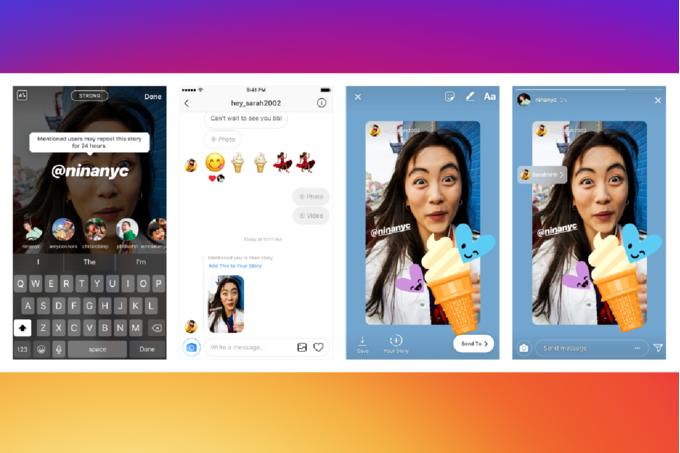 Instagrams-latest-update-allows-users-to-reshare-Stories-that-mention-them آخرین بهروزرسانی اینستاگرام با افزودن قابلیتهایی برای به اشتراک گذاری مجدد استوریها