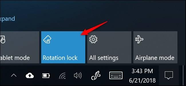 Rotation-Lock نحوه غیرفعال کردن چرخش خودکار صفحه در ویندوز 10