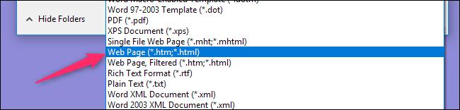 Save-Your-Document-as-a-Web-Page-3 چگونه میتوان سند Word را در قالب یک صفحه وب ذخیره کرد؟
