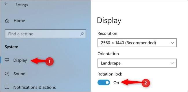 disable-Rotation-lock نحوه غیرفعال کردن چرخش خودکار صفحه در ویندوز 10