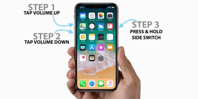 force-restart-the-iPhone-X چگونه میتوان آیفون X را بهسرعت ریاستارت کرد؟
