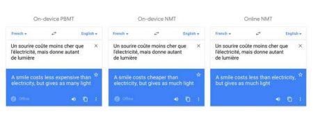 offline-comparison-450x174 گوگل در بهروزرسانی جدید، هوش مصنوعی را برای ترجمه آفلاین به کار گرفت