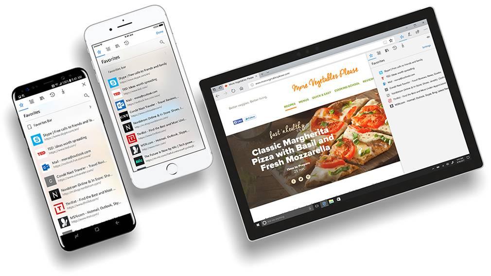 Microsoft-Edge-iOS-Android مرورگر مایکروسافت Edge در بهروزرسانی جدید رداستون ۵ با قابلیتهای جدید عرضه خواهد شد