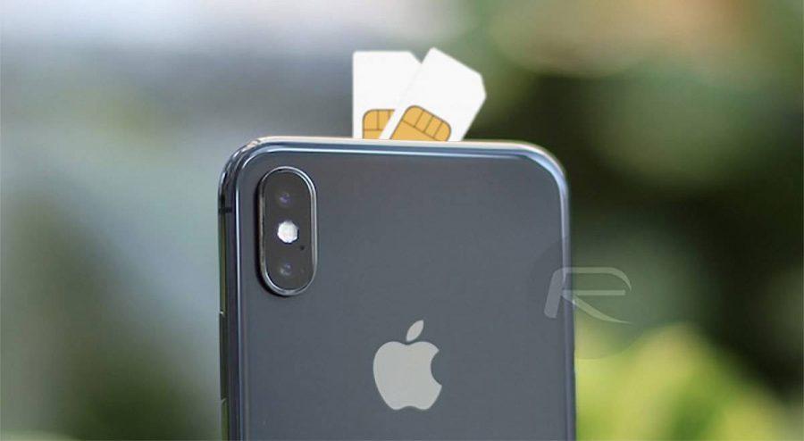 iphone-dual-sim-e1530430166426 احتمال ترکیب سیمکارت با اپلسیم در 2 مدل از آیفونهای 2018 با هدف امکان استندبای همزمان