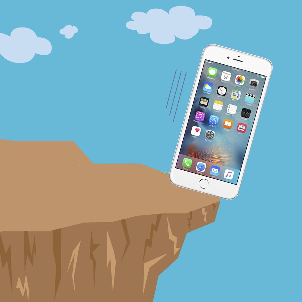 iphone-falling ماجرای سقوط یک گوشی آیفون از ارتفاع ۳۰۰ متری!