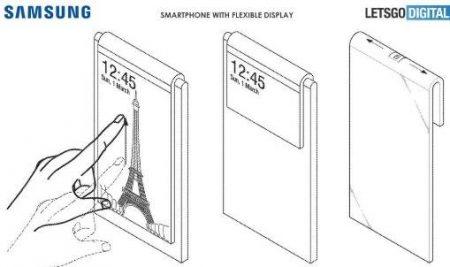 samsung-patent-2-450x267 پتنت جدید سامسونگ: استفاده از دوربین اصلی دستگاه به عنوان دوربین سلفی!