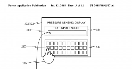 touch-sensitive-typing-450x238 بنا به یک پتنت مایکروسافت میخواهد بر روی کیبوردهای مجازی حساس به فشار کار کند