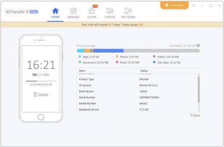3.device-details-Copy-450x296 آشنایی با نرمافزار IOTransfer 3؛ انتقال آسان فایلها از دستگاههای iOS به کامپیوتر ویندوزی