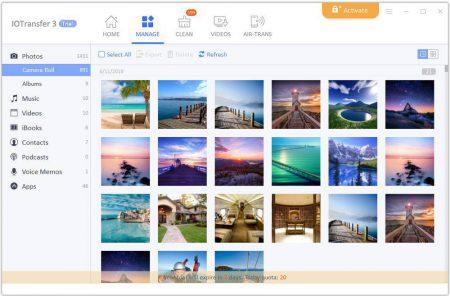 5.manage-photos-Copy-450x296 آشنایی با نرمافزار IOTransfer 3؛ انتقال آسان فایلها از دستگاههای iOS به کامپیوتر ویندوزی