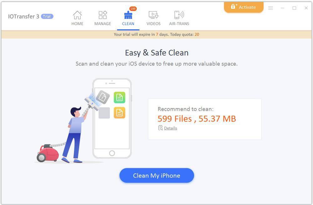 8.clean-Copy-1000x657 آشنایی با نرمافزار IOTransfer 3؛ انتقال آسان فایلها از دستگاههای iOS به کامپیوتر ویندوزی