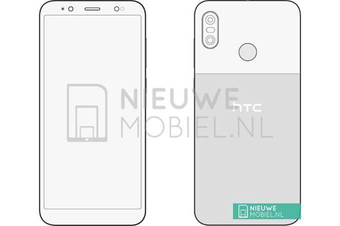 HTC-U12-Life-sketches-confirm-dual-camera-rear-mounted-fingerprint-sensor اولین طرحها از گوشی جدید اچتیسی U12 Life منتشر شد