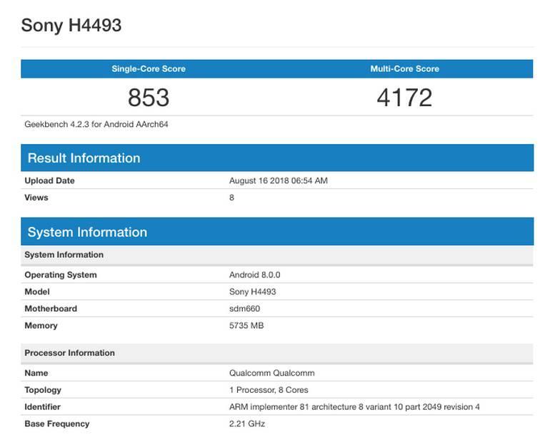 Sony-Xperia-XA3-Sony-H4493-Copy-2 سونی اکسپریا XA3 با تراشهای قدرتمند در بنچمارک گیکبنچ ظاهر شد