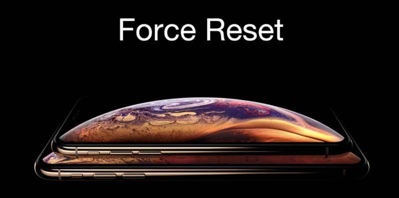 Force-reset-iPhone-XS-iPhone-XS-Max-740x368 روشهايي براي كاهش مصرف باتري در آيفونهاي اپل (iOS 12)
