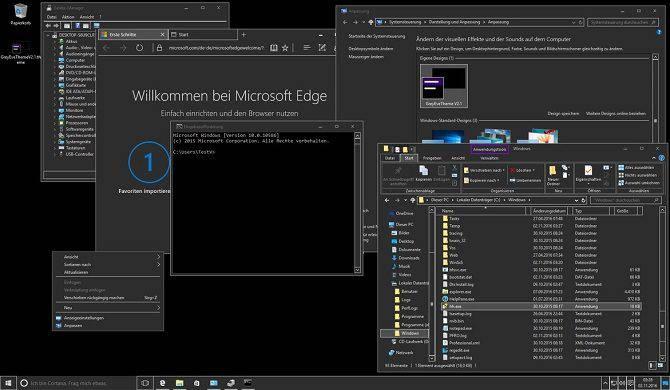 GreyEve-Theme معرفی بهترین تمها برای ویندوز 10