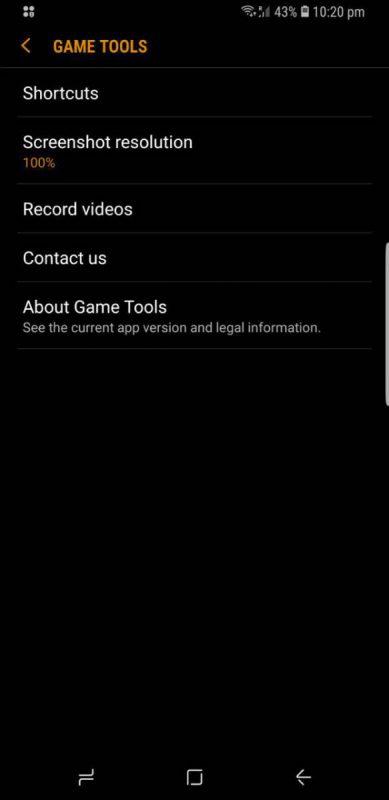 Note9-GameTools3-389x800 چگونه از یک بازی در حال اجرا در گوشی گلکسی نوت 9 سامسونگ فیلم بگیریم؟