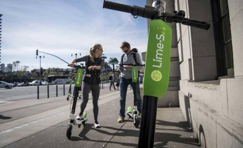 scooters-LimeBike-SanFran-bloomberg آیا اسکوترهای برقی ایمن هستند؟!