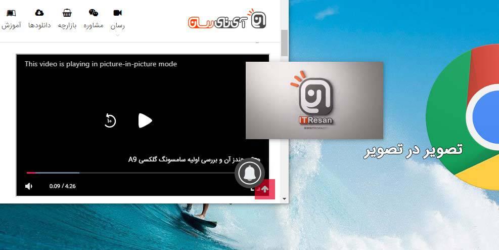 ی آموزش نحوه فعال کردن حالت تصویر در تصویر (PiP) ویدیوها در مرورگر گوگل کروم!