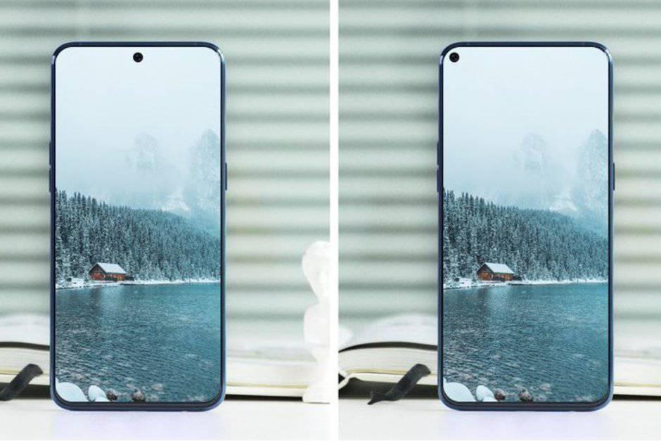 Alleged-Galaxy-A8s-screen-protector-hints-at-the-piercing-future-of-all-screen-designs محافظ نمایشگر گلکسی A8s به آینده الگوهای طراحی تمامصفحه اشاره میکند