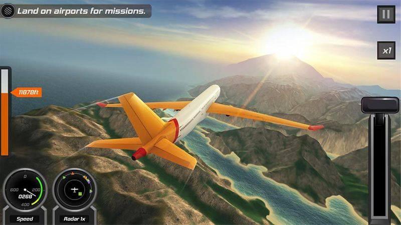 Flight-Pilot-Simulator-3D-screenshot-840x473 بهترین بازیهای شبیه سازی اندروید را بشناسید