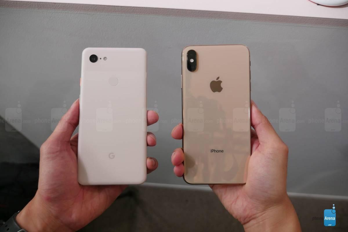 Google-Pixel-3-XL-Apple-iPhone-XS-Max-5 مقایسه پیکسل 3 ایکس ال و آیفون Xs مکس: سیب بزرگ در مقابل پیکسل اعظم!
