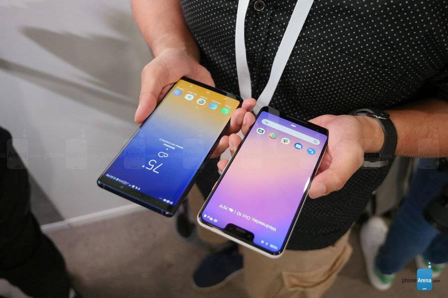 Google-Pixel-3-XL-vs-Samsung-Galaxy-Note-9-first-look-1-of-15-Copy مقایسه اولیه پیکسل 3 ایکس ال و گلکسی نوت 9؛ جویای نام و صاحبنام!