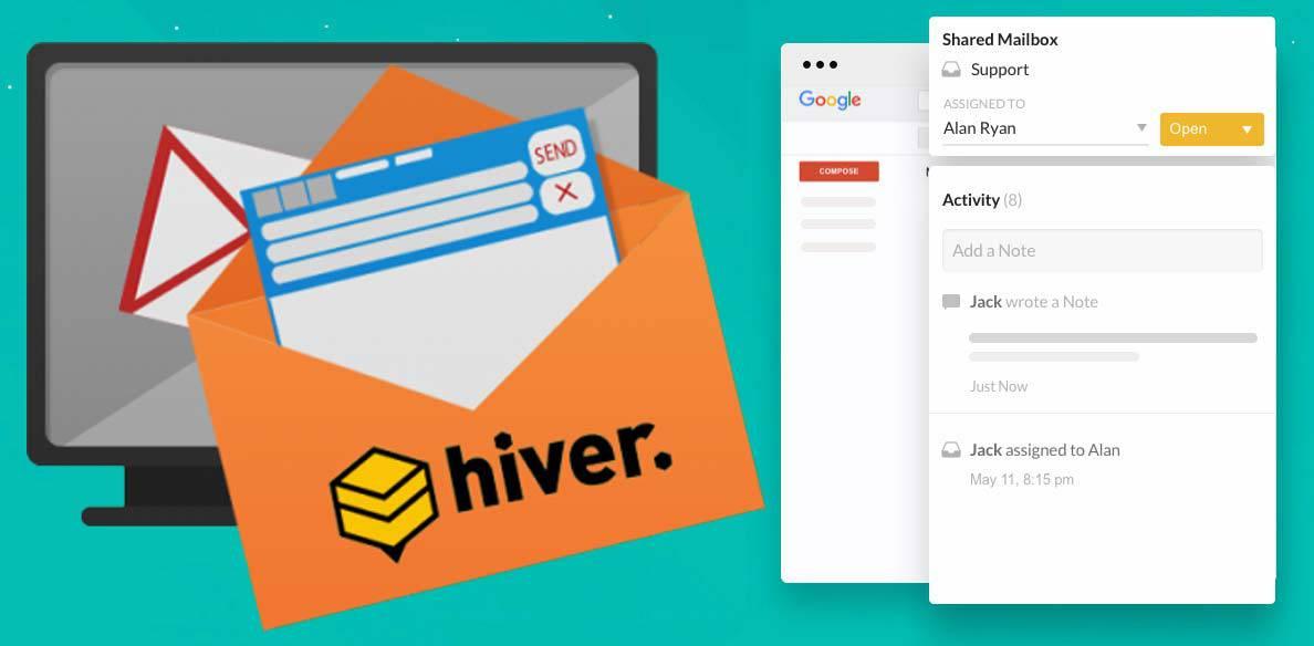 Hiver-main-screen با Hiver آشنا شوید: سرویسی با قابلیت استفاده از ایمیلهای اشتراکی بر روی جیمیل!