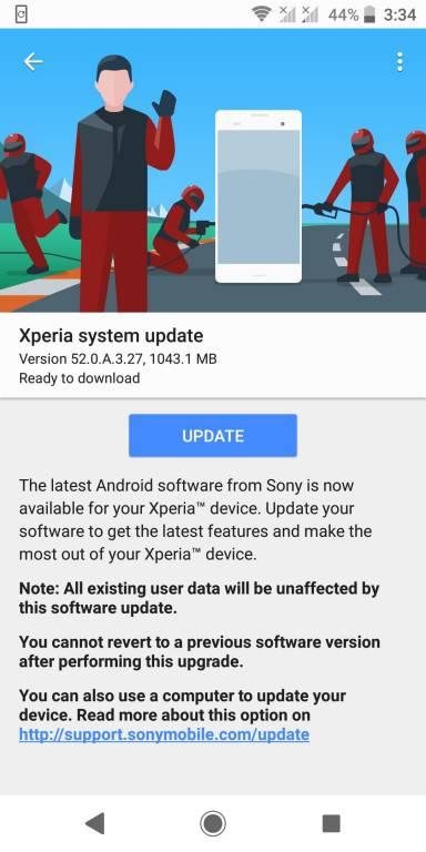XZ2-Update آپدیت اندروید 9 برای اکسپریا XZ2 سونی منتشر شد