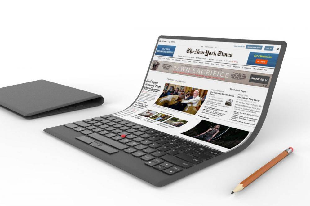 foldable-laptop-1000x667 سامسونگ در حال کار بر روی یک لپتاپ انعطافپذیر است