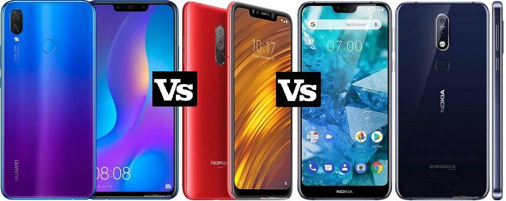 huawei-nova-3i-vs-Pocophone-F1-vs-Nokia-7.1-1 مقایسه مشخصات شیائومی پوکوفون F1، نوکیا 7.1 و هواوی نوا 3i (پی اسمارت پلاس)