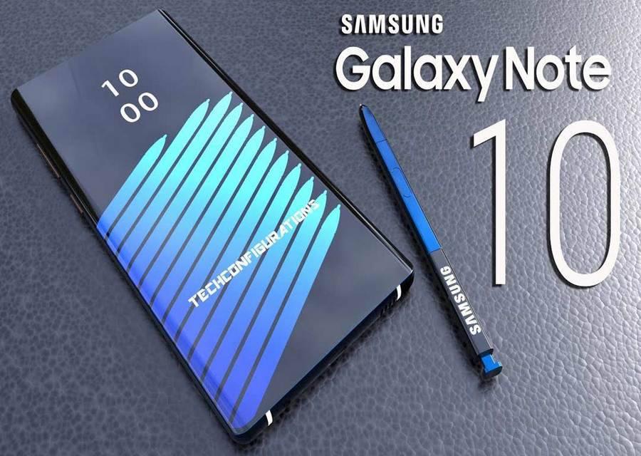samsung-galaxy-note-10-Copy گلکسی نوت 10 نمایشگر بزرگتری نسبت به آیفون Xs مکس خواهد داشت!