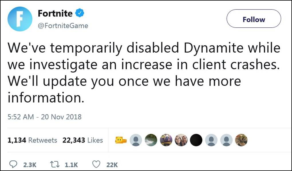 Fortnite فورتنایت و مشکلی که بلافاصله پس از انتشار نسخه جدید به وجود آمد!