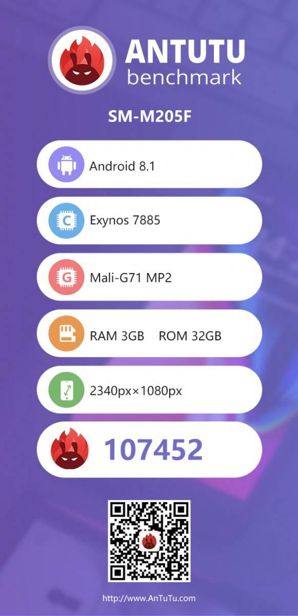 انتوتو برخی از مشخصات گلکسی M2 را لو داد؛ صفحه نمایش فول اچدی به همراه 3 گیگابایت رم!
