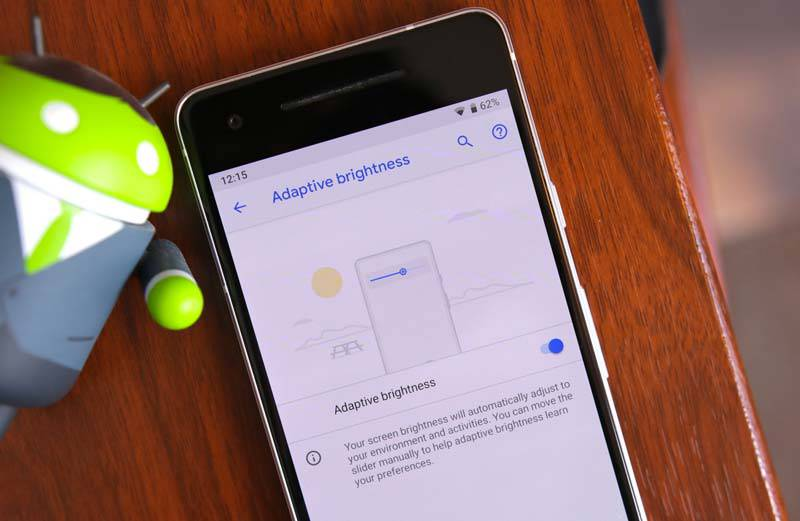 android-p-adaptive-brightness-pixel-2 قابلیت تطبیق روشنایی اندروید از یادگیری ماشینی بهره میگیرد!