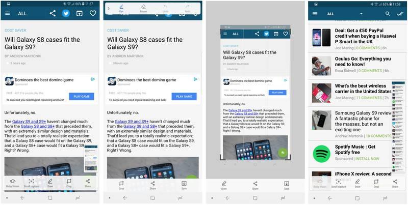 gs9-screenshot-options-screens آموزش گرفتن اسکرین شات در گوشی سامسونگ گلکسی S9