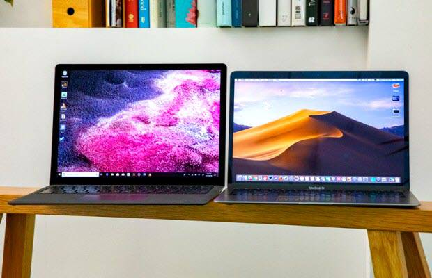 macbook-air-2018-vs-surface-laptop-2-1-1 مقایسه مکبوک ایر 2018 و سرفیس لپتاپ 2