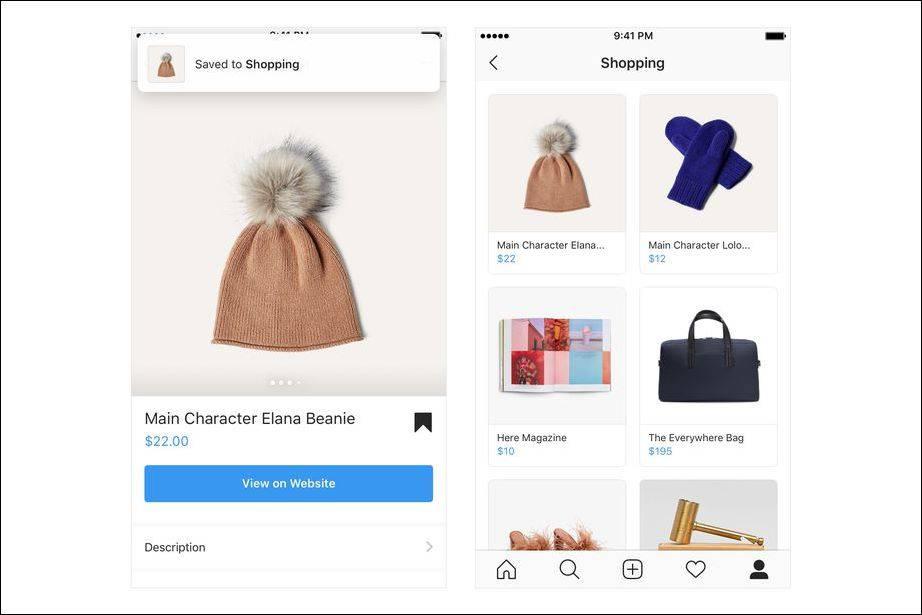 shopping_instagram اینستاگرام خرید اینترنتی کالاهای تبلیغاتی را برای شما راحتتر از گذشته کرده است!