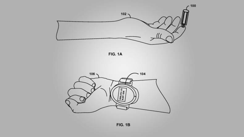 5663e6e8c4618853468b45db ثبت پتنت جدید گوگل از ساعت هوشمندی با قابلیت استفاده از پوست به عنوان تاچپد!